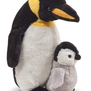 heartwarming-plush-father-and-baby-penguin-pair