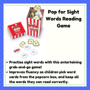 Pop for Sight Words