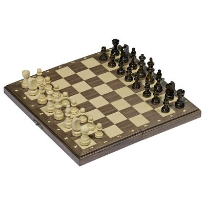 Magnetic Chess Set In A Wooden Hinged Case